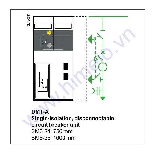 Tủ trung thế Schneider SM6 mã DM1-A