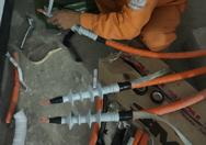 Hướng dẫn lắp đặt đầu cáp co nguội 3M 24kV trong nhà cho cáp 1 pha